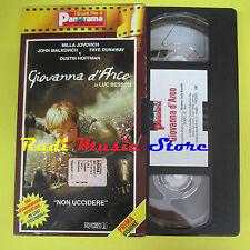 film VHS GIOVANNA D'ARCO Milla Jovovich Dustin Hoffman PANORAMA (F65) no dvd*