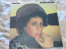 Janis Ian – Between The Lines CBS S 80635 Inner Lyric Sleeve UK Vinyl LP Album
