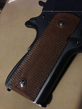 Colt 1911 Grips, colt 45, Brown Rubber, Checkered