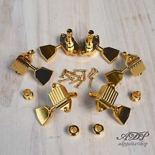 MECANIQUES VINTAGE KLUSON WAFFLEBACK TUNERS 15:1 GIBSON LP SG 3x3 Metal TIP GOLD