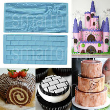 Brick Wall Wood Grain Impression Mould Cake Emboss Fondant Chocolate Icing Sugar