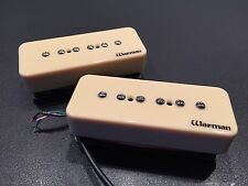 Warman Cream Soapy Joe Double Bubble stacked P90 Humbuckers