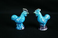 Great Old Turquoise Blue Chinese Ceramic Figurine(s) [Y8-W6-A8-E8]