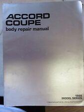 1988 Honda Accord Service Manual Repair Dealership Workshop Coupe Body OEM