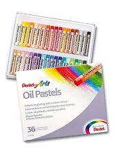 PENTEL OIL PASTELS ARTISTS PASTELS - PACK of 36 VIVID COLOURS