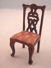 Side Chair - dollhouse miniature wood furniture T3281 1/12 scale mahogany finish