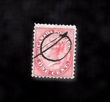 VC212 CANADA  #14i USED SINGLE STAMP, FANCY CANCEL NICE FINE $40.00 QUEEN VIC