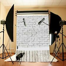 10x5FT Large Vinyl White Brick Wall Studio Backdrop Photography Props Background