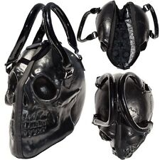 Black Skull Purse Goth Chic Style Kreepsville Latex Bowler Bag Halloween Handbag
