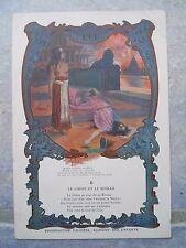"""Ancien chromo Au bon Marché """"Phosphatine Falière , le chêne et le roseau """" 1900"""