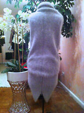$1700 Size Medium Thomas Wylde Gray Angora Sweater Dress Zip Bottom