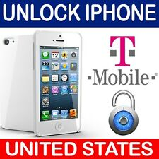 FACTORY UNLOCK IPHONE 3GS 4 4S 5 5S 5C 6 6+ 6S 6S+ SE T-MOBILE USA 100% SUCCESS