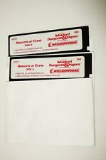 "#3 IBM PC AD&D Dragons of Flame 5.25"" 5-1/4"" Disk A B Untested TSR SSI"