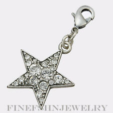 Authentic Pilgrim Jewelry Fancy Silver Crystal Accented Star Pendant   444185