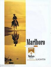 PUBLICITE ADVERTISING 075  1988  Marlboro light  cigarettes