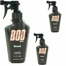 3 x   Bod Man  Black  Body Spray 8 - 8.0 oz by Parfums De Coeur for Men LOT