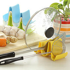 Wave Style Pan Pot Cover Spoon Lid Fram Rack Rest Stand Holder Kitchen Utensil