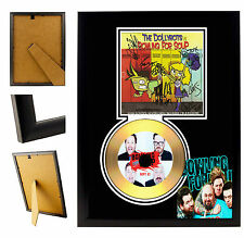 BOWLING FOR SOUP  - A4 SIGNED FRAMED GOLD VINYL COLLECTORS CD DISPLAY PICTURE