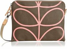 NEW ORLA KIELY ETC Travel Pouch Shoulder Bag Ladies Handbag LINEAR STEM NUTMEG