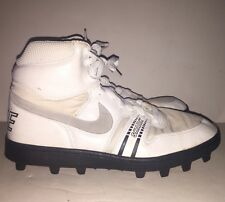 NEW VTG 1989 80s Nike Shark High Top Football Cleats White Size 11.5