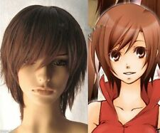 LMJF213 Vocaloid Meiko Cosplay short brown straight hair Wig  wigs for women