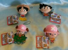 One Piece x Dragonball Z Plush Charm/Dangler- Set of 4 (Luffy, Goku, 2 Chopper)