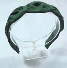 Scalloped women's Hunter Green hard headband 1 1/4 inches wide