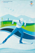 Original Vintage Poster Vancouver Winter Olympics Canada 2010 Cross Country Ski