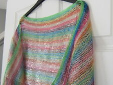 Ladies Multi Coloured Poncho Beachwear Top size 20/22/24