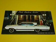 1964 MERCURY PARK LANE SEDAN POSTCARD, DEALER ADVERTISEMENT