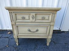 French Provincial Nightstand Bed Table Hollywood Regency Country Dixie Italian