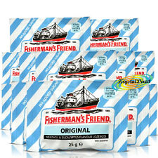 12x Fisherman's Friend Sugar Free Original Menthol Eucalyptus Lozenges