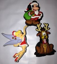 JIBBITZ DISNEY Christmas  CROC RUBBER SHOE CHARM New All Three