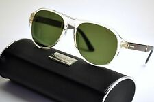 Chopard SCH 134 Sunglasses Col846P Beige Crystal / Green Polarized   New