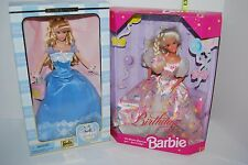 Barbie 2 Dolls Happy Birthday Collector 1996 2000 Celebrate Blond Wishes Box