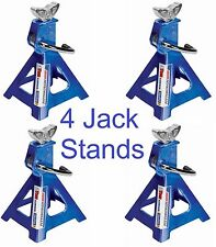 Aluminum Jack Stands 3 Ton 12000lb 2-Pair (4) Durable Heavy Duty Car Truck Auto