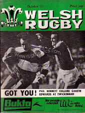 BRITISH LIONS v BARBARIANS WELSH RUGBY MAGAZINE COVERAGE OCT 1977 MATCH