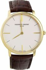Frederique Constant FC200V5S35 Leather Slimline Men's Watch Swiss Made Quartz