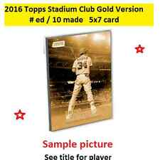 SANTIAGO CASTILLO #34 GIANTS 2016 Topps Stadium Club 5X7 Gold Version #/10 Made