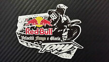 Tony Cairoli 222 red bull adesivo stickers tributo adesivi