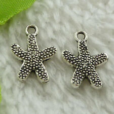 free ship 480 pieces tibet silver starfish charms 18x13mm #3598