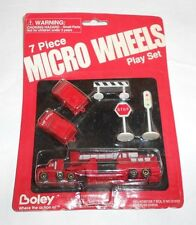 Boley Micro Wheels 7 Piece Play Set Fire Engine Trucks 1997 NIP
