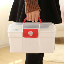 New 2 Layers Health Pill Medicine Chest First Aid Kit Case Storage Box Container