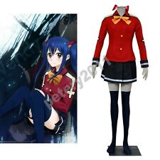 Custom-made 2016 Newest Fairy Tail Wendy Marvell Cosplay Costume Halloween