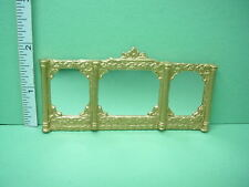 Dollhouse Miniature Gilded Framed Mirror - Unique Miniatures #OM12 -1/12th Scale