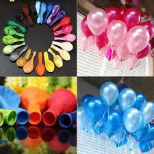 100 Colorful Pearl Latex Balloon Celebration Party Wedding Birthday Decor Mixed