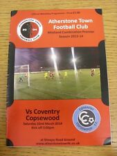 22/03/2014 Atherstone Town v Coventry Copsewood  . Thanks for viewing our item,