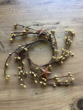 """Primitive Vanilla pip berry & stars candle ring 2.5"""""""