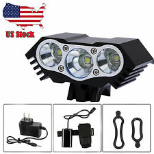 7500Lm 3xCREE XML T6 LED Front Bicycle Lamp Bike Light Headlamp+4x18650+Cha