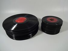 "Bulk MIXED Lot of 100 Old Vinyl Records (50) 12"" + (50) 7"" Album LPs Decorations"